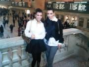 Kim & Kourtney Kardashian @ Grand Central Station in NY - November 5, 2010