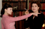Virginie Ledoyen &amp;amp; Fanny Ardant ... 1 cap of 2 beautiful women, from 2002's 8 WOMEN