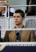 Cristiano Ronaldo during Real Madrid vs Pamesa Valencia basketball match, 07 april, x9