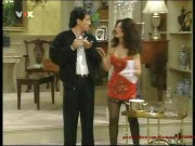 Fran Drescher---red mini dresssexy legsblack nylons17.06.11-VOX